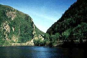 Delaware Water Gap From River