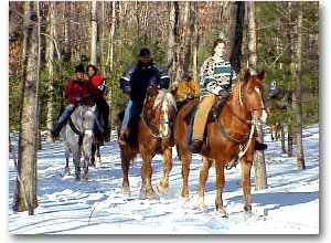 horseback riding in the Poconos